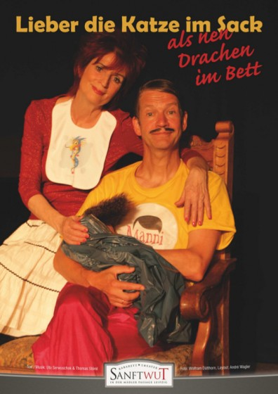 lieber-die-katze-im-sack-als-nen-drachen-im-bett-sanftwut-kabarett-plakat